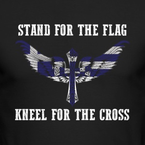 Stand for the flag Greece kneel for the cross - Men's Long Sleeve T-Shirt by Next Level
