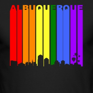 Albuquerque New Mexico Rainbow LGBT Gay Pride - Men's Long Sleeve T-Shirt by Next Level
