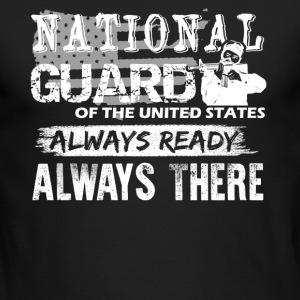 American National Guard Shirt - Men's Long Sleeve T-Shirt by Next Level