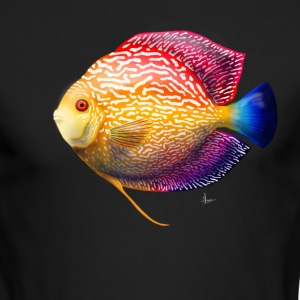 Discus Fish - Men's Long Sleeve T-Shirt by Next Level