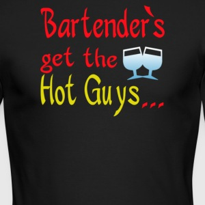 Bartender's get hot guys - Men's Long Sleeve T-Shirt by Next Level