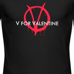 V for Valentine - Men's Long Sleeve T-Shirt by Next Level