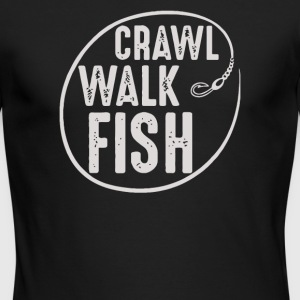 Crawl Walk Fish - Men's Long Sleeve T-Shirt by Next Level