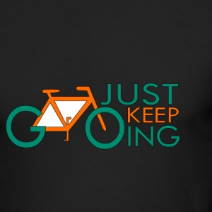 CREATIVE DESIGNS || JUST KEEP GOING - Men's Long Sleeve T-Shirt by Next Level