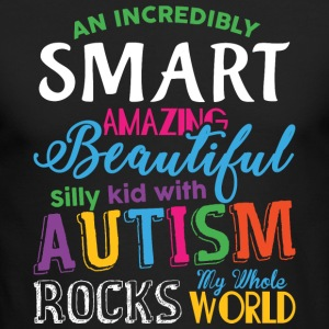 Kid With Autism Rocks My Whole World T Shirt - Men's Long Sleeve T-Shirt by Next Level