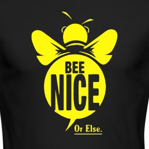 bee nice - Men's Long Sleeve T-Shirt by Next Level