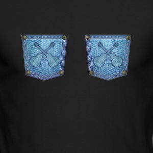 Guitars on jeans - Men's Long Sleeve T-Shirt by Next Level