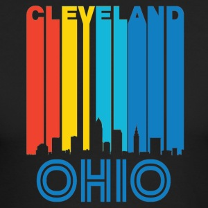 Retro Cleveland Skyline - Men's Long Sleeve T-Shirt by Next Level