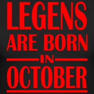 Legends Are Born In October Vintage - Men's Long Sleeve T-Shirt by Next Level