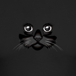 Black Cat Face - Men's Long Sleeve T-Shirt by Next Level