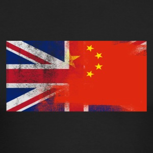 British Chinese Half China Half UK Flag - Men's Long Sleeve T-Shirt by Next Level