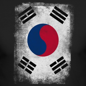South Korea Flag Proud Korean Vintage Distressed - Men's Long Sleeve T-Shirt by Next Level