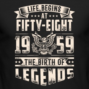 Life Begins At Fifty Eight Tshirt - Men's Long Sleeve T-Shirt by Next Level