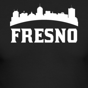 Vintage Style Skyline Of Fresno CA - Men's Long Sleeve T-Shirt by Next Level