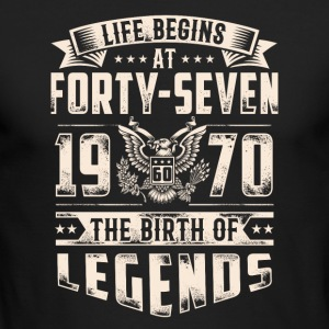 Life Begins At Forty Seven tshirt - Men's Long Sleeve T-Shirt by Next Level