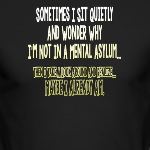Sometimes i sit quietly and wonder - Men's Long Sleeve T-Shirt by Next Level