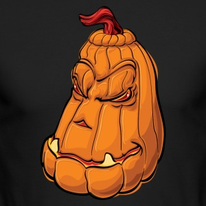 Scary Halloween Pumpkin - Men's Long Sleeve T-Shirt by Next Level