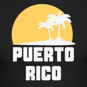 Puerto Rico Sunset Palm Trees Beach - Men's Long Sleeve T-Shirt by Next Level