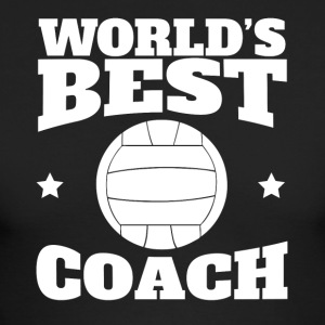 World's Best Volleyball Coach Graphic - Men's Long Sleeve T-Shirt by Next Level