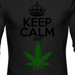 Keep Calm and Weed - Men's Long Sleeve T-Shirt by Next Level