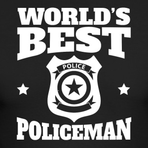 World's Best Policeman Graphic - Men's Long Sleeve T-Shirt by Next Level