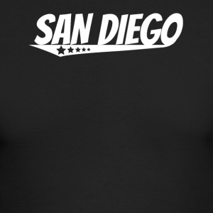 San Diego Retro Comic Book Style Logo - Men's Long Sleeve T-Shirt by Next Level