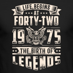 Life Begins At Forty Two Tshirt - Men's Long Sleeve T-Shirt by Next Level
