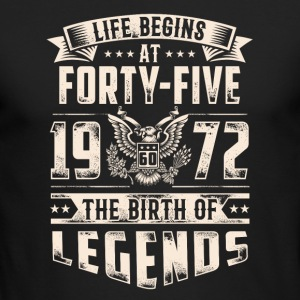 Life Begins At Forty Five Tshirt - Men's Long Sleeve T-Shirt by Next Level