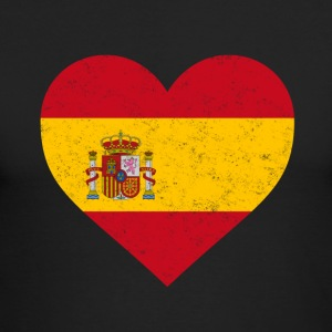 Spain Flag Shirt Heart - Spanish Shirt - Men's Long Sleeve T-Shirt by Next Level