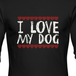 I LOVE MY DOG - Men's Long Sleeve T-Shirt by Next Level