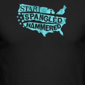 Star spangled hammered - Men's Long Sleeve T-Shirt by Next Level