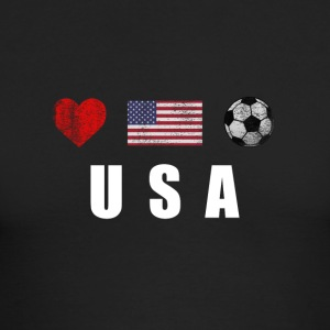 United States Football American Soccer T-shirt - Men's Long Sleeve T-Shirt by Next Level