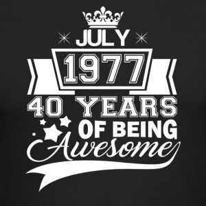 Born in July 1977, 40 years of being awesome - Men's Long Sleeve T-Shirt by Next Level