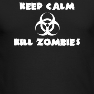 Keep Calm Kill Zombies - Men's Long Sleeve T-Shirt by Next Level