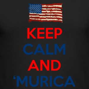 Keep Calm And Murica - Men's Long Sleeve T-Shirt by Next Level