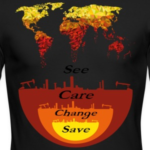 See, Care, Change, Save Our Earth - Men's Long Sleeve T-Shirt by Next Level