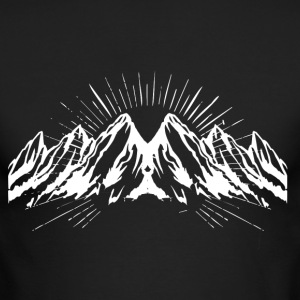 Big white snow mountain - Men's Long Sleeve T-Shirt by Next Level