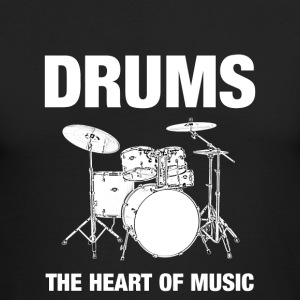 Drums The Heart Of Music - Men's Long Sleeve T-Shirt by Next Level