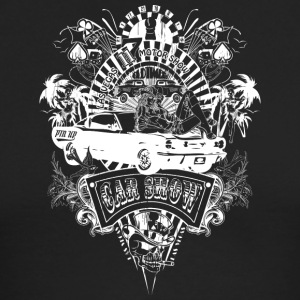 motor_show_cars_and_girls_white - Men's Long Sleeve T-Shirt by Next Level