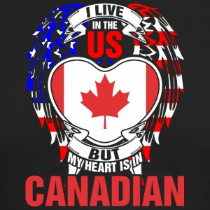 I Live In The Us But My Heart Is In Canadian - Men's Long Sleeve T-Shirt by Next Level