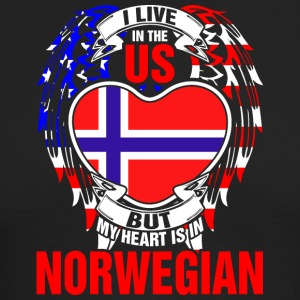 I Live In The Us But My Heart Is In Norwegian - Men's Long Sleeve T-Shirt by Next Level