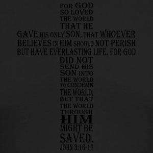 john 3:16-17 - Men's Long Sleeve T-Shirt by Next Level