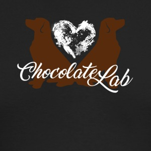 Love Chocolate Lab Dog Shirt - Men's Long Sleeve T-Shirt by Next Level