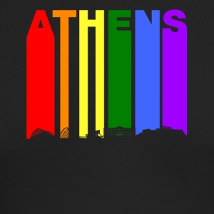 Athens Greece Skyline Rainbow LGBT Gay Pride - Men's Long Sleeve T-Shirt by Next Level