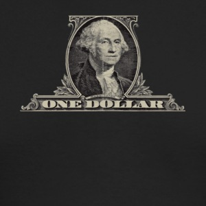 One Dollar Bill - George Washington - Men's Long Sleeve T-Shirt by Next Level