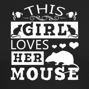 This Girl Loves Her Mouse Shirt - Men's Long Sleeve T-Shirt by Next Level