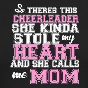 Cheerleader Kinda Stole My Heart Call Me Mom Shirt - Men's Long Sleeve T-Shirt by Next Level