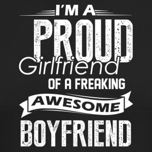 Proud Girlfriend Of A Awesome Boyfriend Shirt - Men's Long Sleeve T-Shirt by Next Level