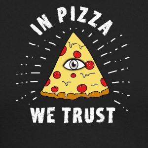 pizza illuminati Eye Pyramide Humor fun fastfood - Men's Long Sleeve T-Shirt by Next Level