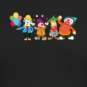 Cute Clowns Graphic Tee Shirt - Men's Long Sleeve T-Shirt by Next Level